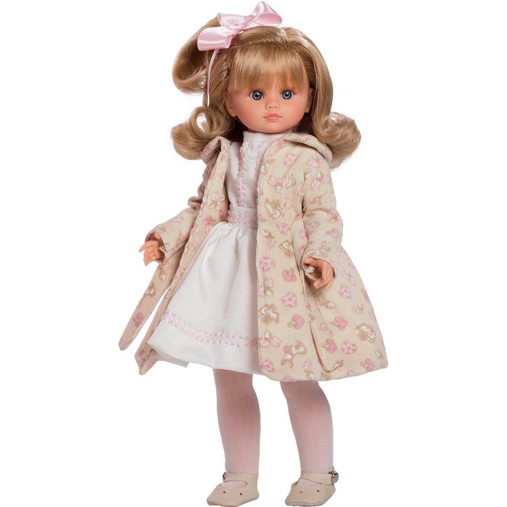 Luxusní dětská panenka-holčička Berbesa Flora 42cm - béžová