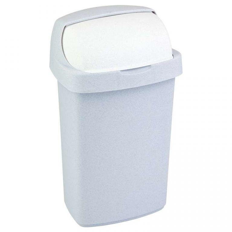 Koš na odpadky ROLL TOP 10l - sv. šedý CURVER