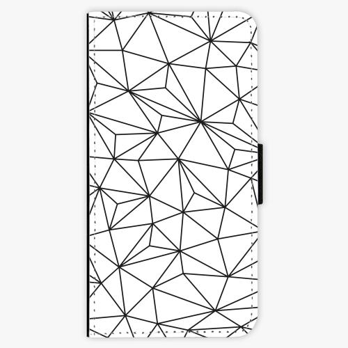 Flipové pouzdro iSaprio - Abstract Triangles 03 - black - Huawei Honor 9 Lite
