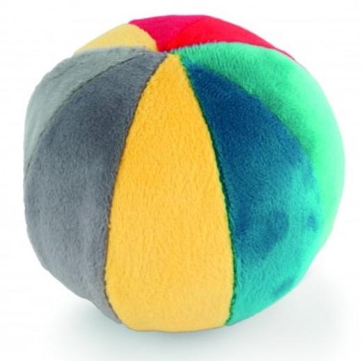 Canpol babies Plyšový edukační míček s rolničkou - vícebarevný