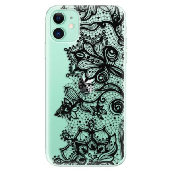 Odolné silikonové pouzdro iSaprio - Black Lace - iPhone 11