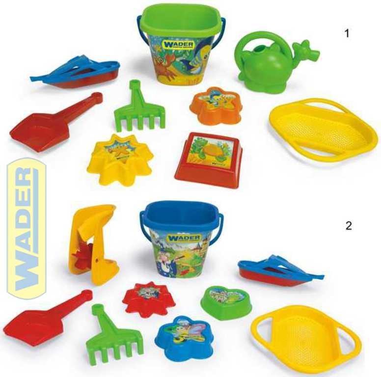 WADER Set na písek IML letní 9ks 2 druhy s mlýnkem / konvičkou plast 75044