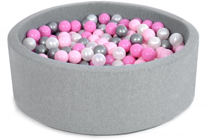 Bazén velký pro děti 90x40cm + 200 balónků - pipi pink