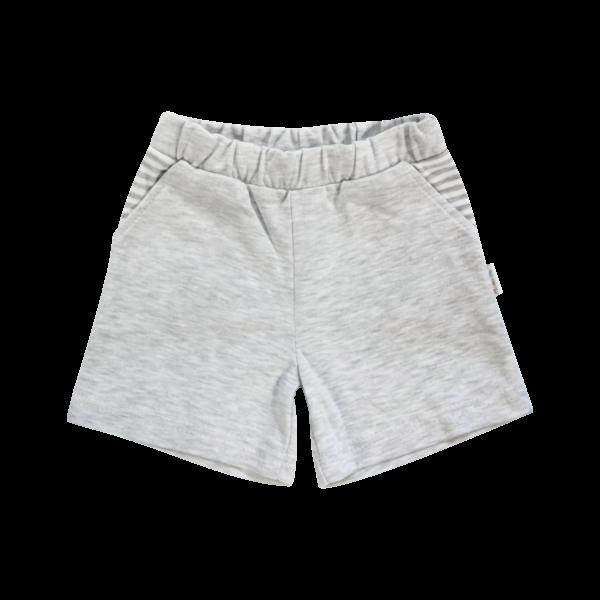 Kojenecké bavlněné kalhotky, kraťásky Mamatti Gentleman - šedé, vel. 104 - 104