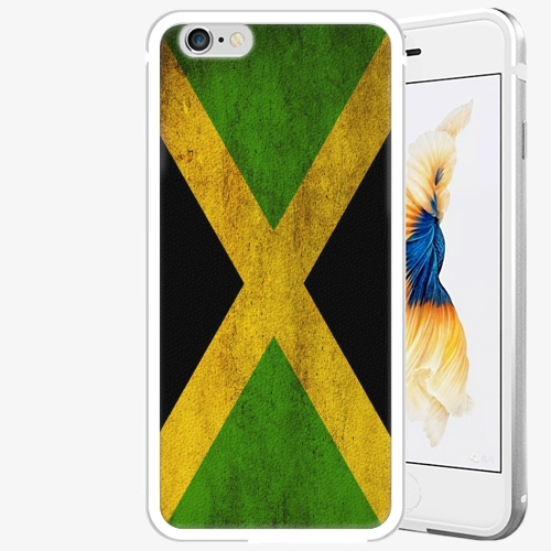 Plastový kryt iSaprio - Flag of Jamaica - iPhone 6 Plus/6S Plus - Silver