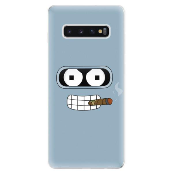 Odolné silikonové pouzdro iSaprio - Bender - Samsung Galaxy S10+