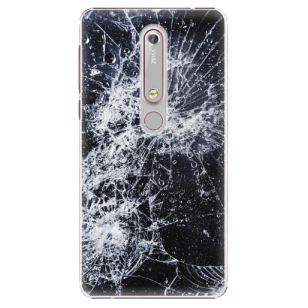 Plastové pouzdro iSaprio - Cracked - Nokia 6.1