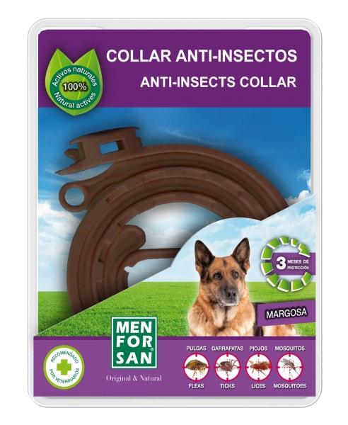 Přírodní obojek pro psy, odpuzující klíšťata a blechy 60cm