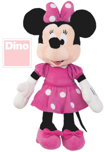 DINO PLYŠ Disney myška Minnie 23 cm růžové šaty