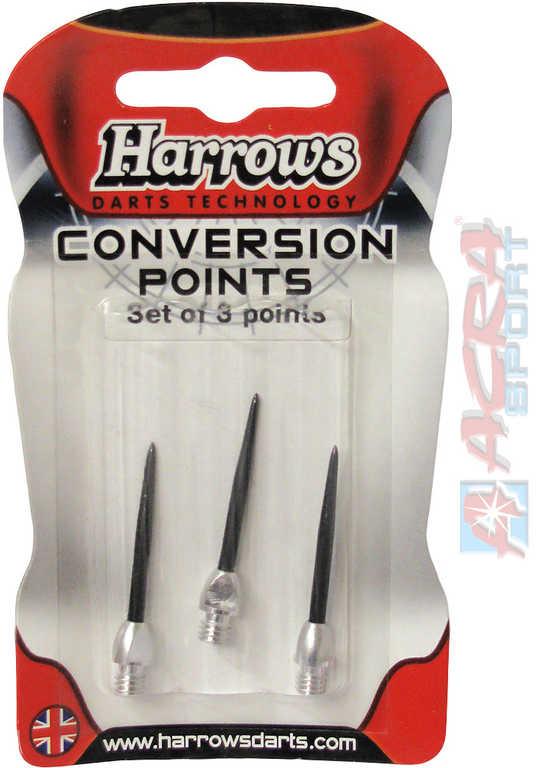 ACRA HARROWS vyměnitelné kovové hroty k šipkám 3 ks v blistru 2 barvy