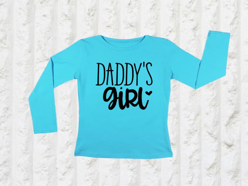 kidsbee-divci-bavlnene-tricko-daddy-s-girl-tyrkysove-98-24-36m