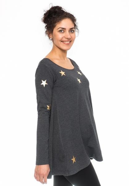 Be MaaMaa Těhotenská tunika volná Star