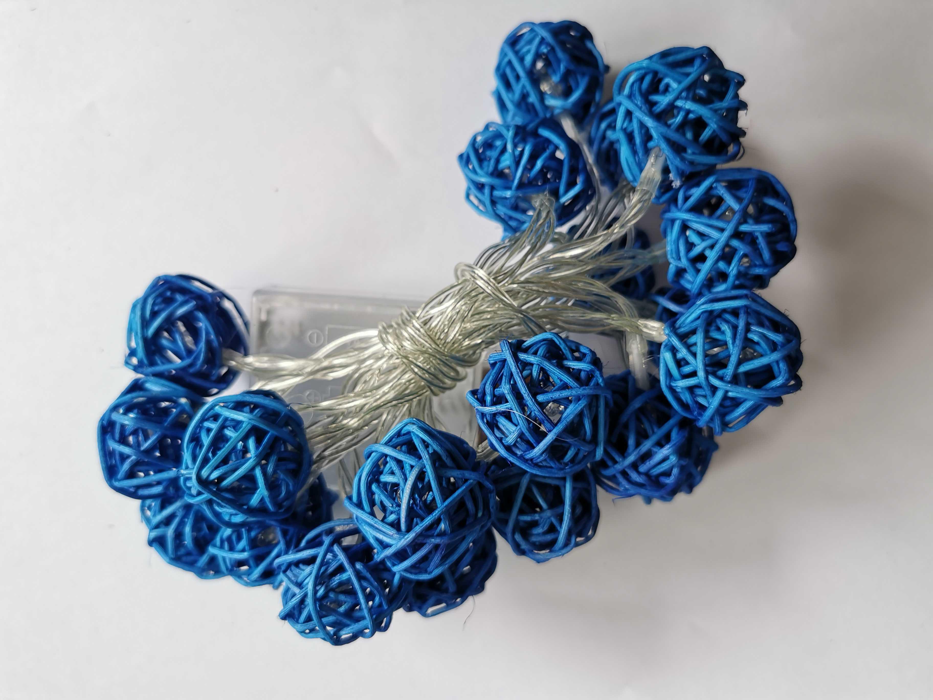 Dekorační svítící řetěz - Modrá