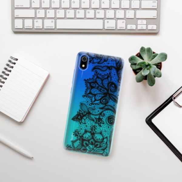Odolné silikonové pouzdro iSaprio - Black Lace - Xiaomi Redmi 7A