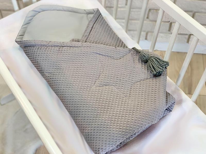 baby-nellys-luxusni-zavinovacka-vaflova-star-75-x-75cm-seda