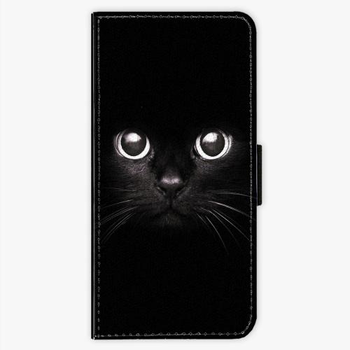 Flipové pouzdro iSaprio - Black Cat - Sony Xperia XA