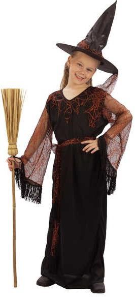 KARNEVAL Šaty ČARODĚJKA KOUZELNÁ vel. M (120-130 cm) 5-9 let KOSTÝM