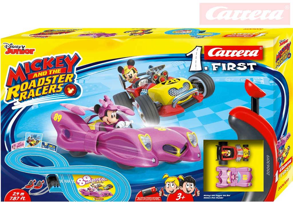 CARRERA Autodráha 1.First Mickey Racers na baterie 240cm 2 autíčka