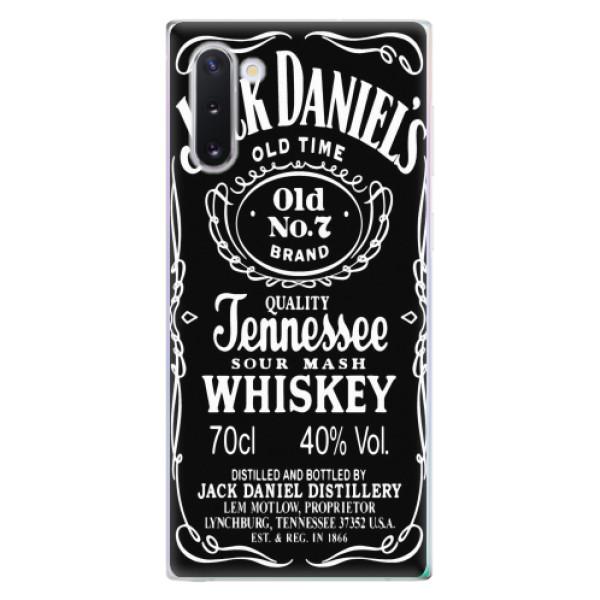 Odolné silikonové pouzdro iSaprio - Jack Daniels - Samsung Galaxy Note 10