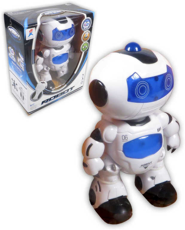 RC Robot na dálkové ovládání na baterie Světlo Zvuk plast