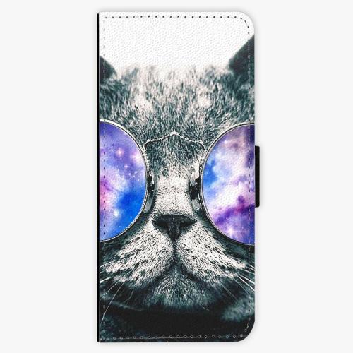 Flipové pouzdro iSaprio - Galaxy Cat - Samsung Galaxy J3 2016