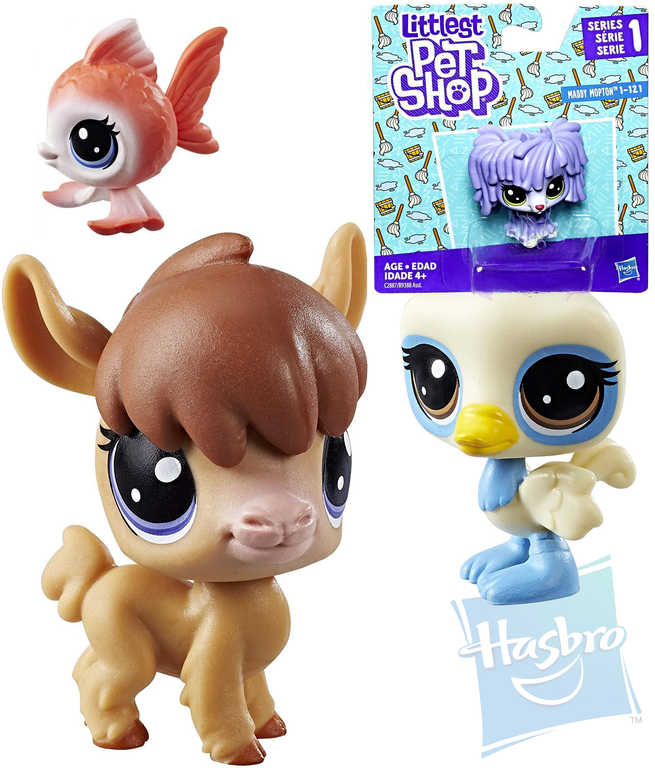 HASBRO LPS Littlest Pet Shop zvířátko samostatné dekorovací 1.serie různé druhy