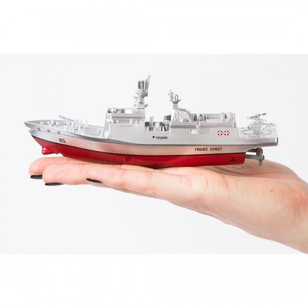 Mini bitevní loď na dálkové ovládání do bazénu i jezera 2,4 GHz RTR