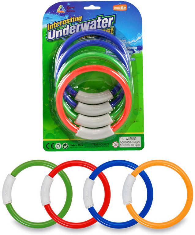 Kroužky plastové do vody