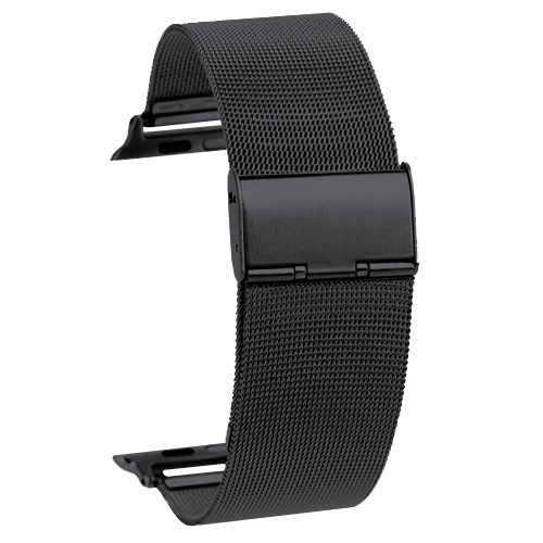 Kovový pásek / řemínek iSaprio Milanese Classic pro Apple Watch 38mm černý