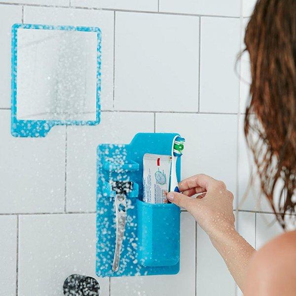 Silikonový držák na kartáček a holení do koupelny