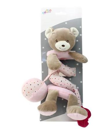 Plyšová spirála Medvídek - růžový