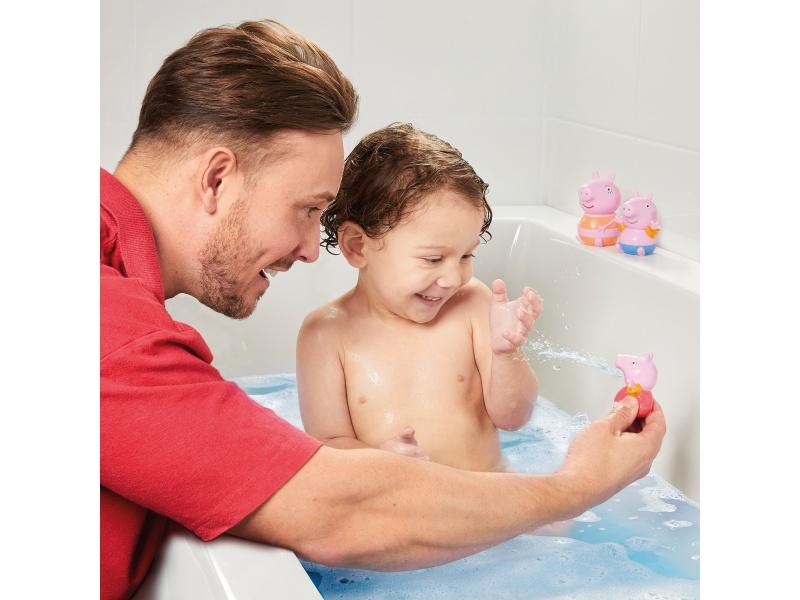 TOOMIES - Prasátko Peppa, maminka a Tom - stříkající hračky do vody