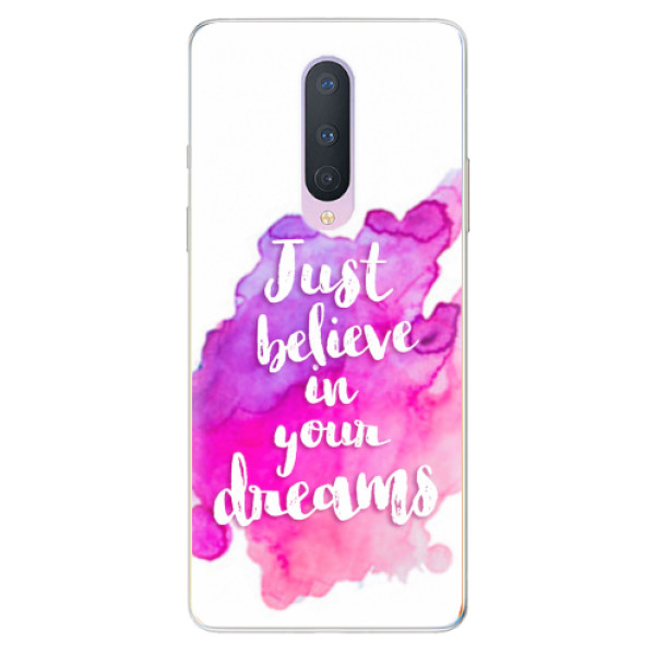 Odolné silikonové pouzdro iSaprio - Believe - OnePlus 8