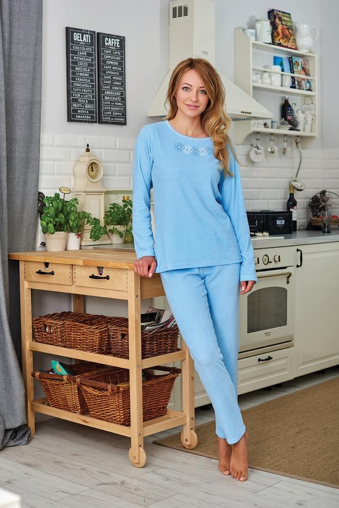 Dámské pyžamo Regina Frotte 741A 2XL dł/r - Mix/XXL
