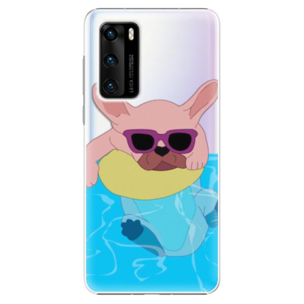 Plastové pouzdro iSaprio - Swimming Dog - Huawei P40