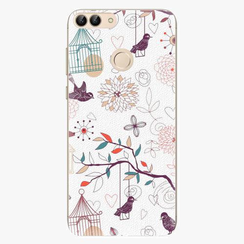 Silikonové pouzdro iSaprio - Birds - Huawei P Smart