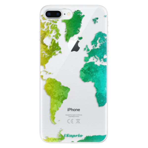 Odolné silikonové pouzdro iSaprio - Cold Map - iPhone 8 Plus