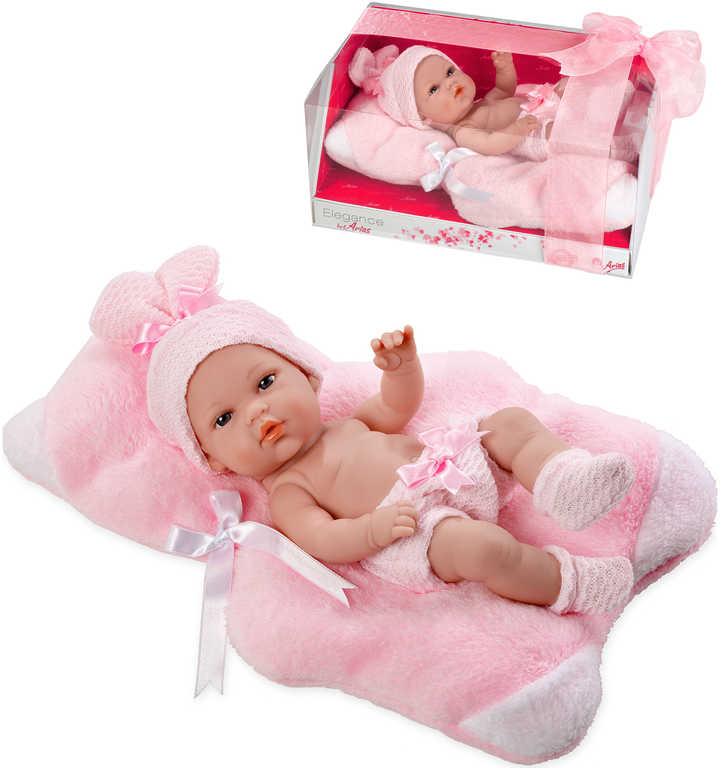 Panenka Arias miminko vonící 33cm tvrdé tělo růžový obleček v krabici