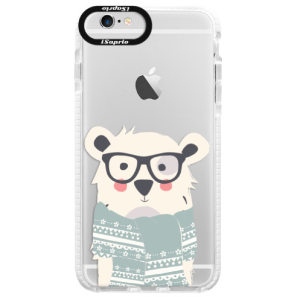 Silikonové pouzdro Bumper iSaprio - Bear with Scarf - iPhone 6 Plus/6S Plus