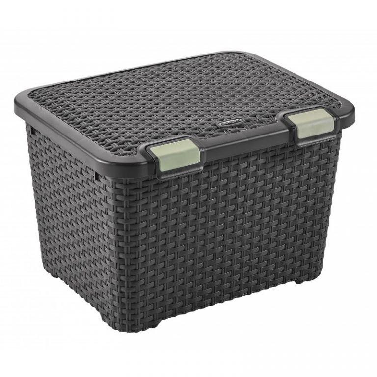 Plastový úložný STYLE BOX - 43L - hnědý CURVER