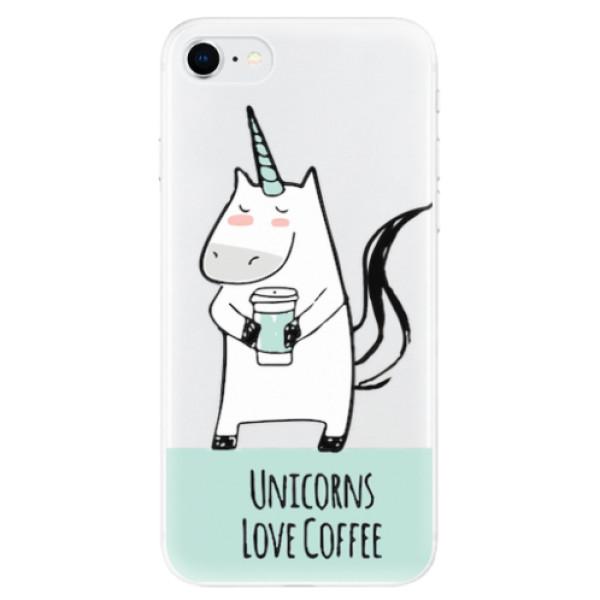 Odolné silikonové pouzdro iSaprio - Unicorns Love Coffee - iPhone SE 2020