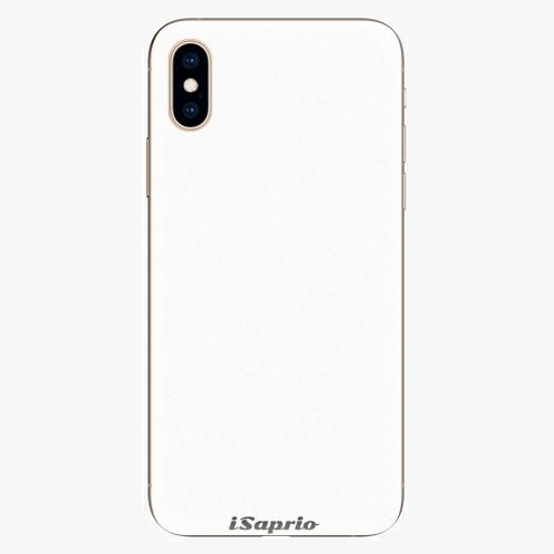 Silikonové pouzdro iSaprio - 4Pure - bílý - iPhone XS