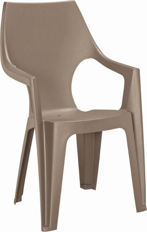Plastová židle Dante, cappuccino