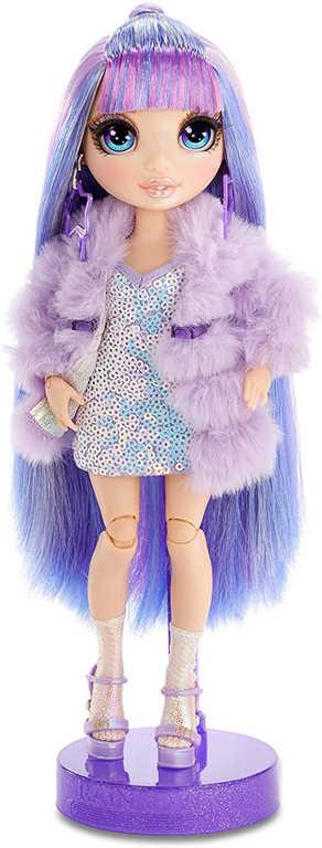 Rainbow High Fashion Doll modní panenka Violet Willow set s oblečky a doplňky