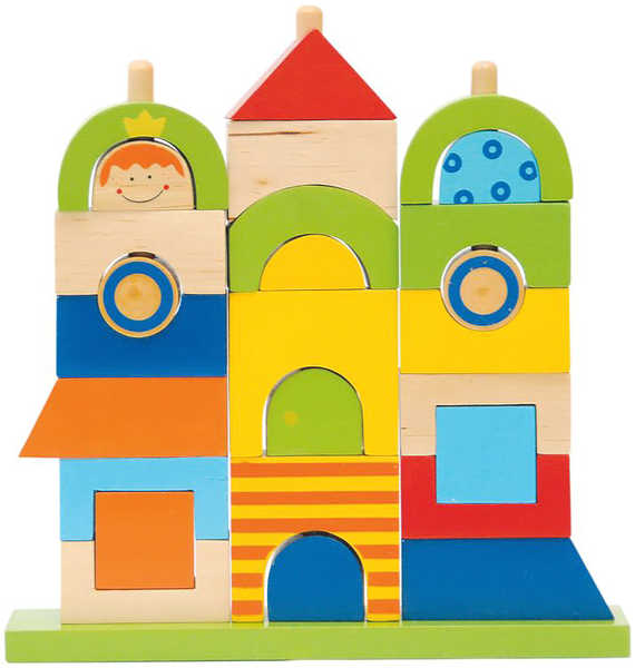 WOODY Navlékací tvary Můj dům *DŘEVĚNÉ HRAČKY*