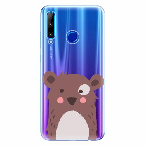Silikonové pouzdro iSaprio - Brown Bear - Huawei Honor 20 Lite