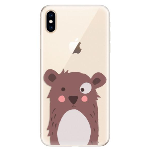 Silikonové pouzdro iSaprio - Brown Bear - iPhone XS Max