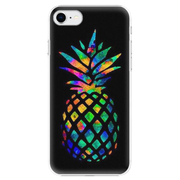 Plastové pouzdro iSaprio - Rainbow Pineapple - iPhone SE 2020