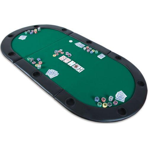Pokerová podložka skládací zelená