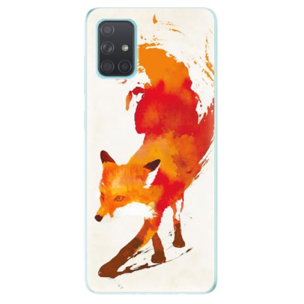 Odolné silikonové pouzdro iSaprio - Fast Fox - Samsung Galaxy A71
